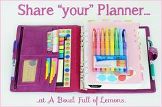Sneak a peek inside some awesome planners with different styles, layouts and schedules. All sorts of inspiration at your fingertips! Via A Bowl Full of Lemons