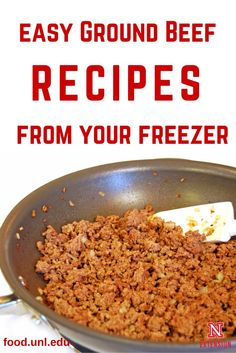 How prepare Make Ahead Meals using frozen ground beef recipes and save time in the kitchen