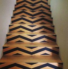 DIY Stair pattern idea