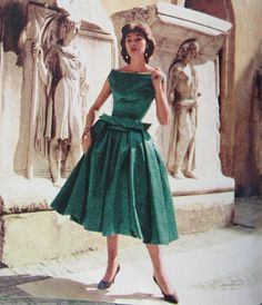 1956, I found a dress like this in Rome, at the store called DADA last year and still regret not buying it.