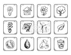 Environmental icons Royalty Free Stock Vector Art Illustration