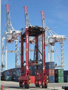 https://flic.kr/p/uUo6hg   Landside cranes and straddle carrier July 2015