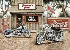 11223 - MOTORCYCLE - DIVERSOS - PINTURA - BAR and GRILL - 41x29-