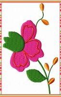 Dollsfashion - Stickdatei Blume Freebie