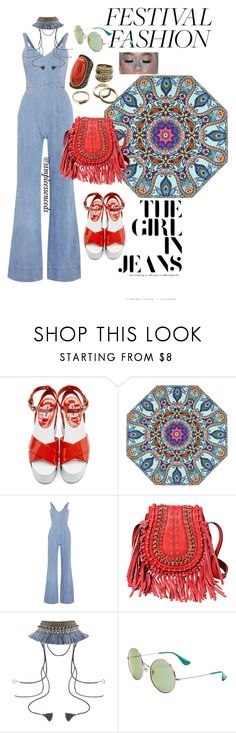 """""""Festival Fashion"""" by simpleessence on Polyvore featuring Miu Miu, Alice + Olivia, Ray-Ban and Gemma Simone"""