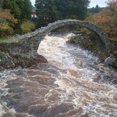 Carrbridge's most famous landmark is the old packhorse bridge, from which the village is named. The bridge, built in 1717, is the oldest stone bridge in the Scottish Highlands