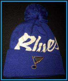 ST. LOUIS  BLUES MITCHELL & NESS ADULT ONE SIZE STOCKING CAP HAT NEW WITH TAGS #MitchellNess #StLouisBlues