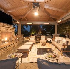 Outside pool - backyard living room Outdoor Living Rooms, Outside Living, Outdoor Spaces, Outdoor Patios, Outdoor Pergola, Pergola Kits, Screened Porches, Rustic Outdoor, Pergola Ideas