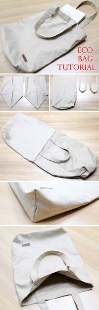 Lleva tus bolsas de tela al supermercado, así cuidarás del ambiente. #proyecto #costura #bolsa