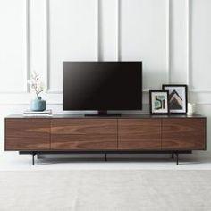 TV-Lowboard Payara Walnuss / Schwarz Fashion For Home Tv Stand Decor, Tv Decor, Home Decor, Tv Wall Design, Tv Unit Design, Tv Console Design, Living Room Wall Units, Living Room Designs, Tv Furniture