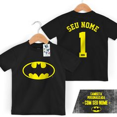 Camiseta Infantil Batman Logo Name