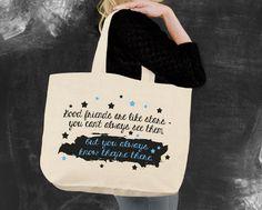 Good Friends Are Like Stars Tote Bag