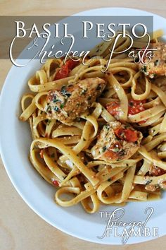 Recipe: Basil Pesto Chicken (or New York Steak) Pasta, yumm, just made this, it's the bomb.