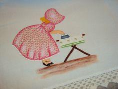 Patch apliquê e pintura em pano de prato