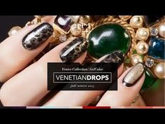 OPI GelColor Nail Art Venetian Drops Tutorial