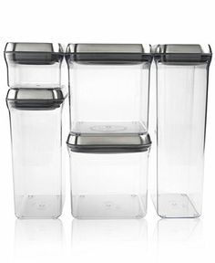 OXO Pop Food Storage Containers, Set of 5 Stainless Steel Canisters - Kitchen Gadgets - Kitchen - Macy's