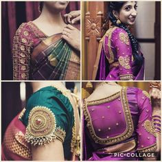 Saree Blouse Patterns, Sari Blouse Designs, Blouse Styles, Bridal Makeover, Blouse Models, Girls Blouse, African Wear, Sleeve Designs, Indian Designer Wear