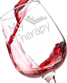 """Wine + Relaxation = My Therapy! Beautiful Appearance - The 12.75oz """"My Therapy"""" wine glass has a long tapered stem and an extra wide base to prevent spillage. The large bowl holds plenty of your favor"""
