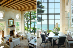 antiques dealer and designerRichard Shapiro'sMediterranean villa - Sitting highabove Broad Beach in Malibu