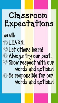 Classroom Expectations We will: o LEARN! Let others lean! Show respect with our words and actions! Be responsible for our words and actions! Classroom Behavior Management, Classroom Procedures, Classroom Rules, Classroom Posters, Future Classroom, School Classroom, Classroom Organization, Classroom Promise, Classroom Expectations Poster