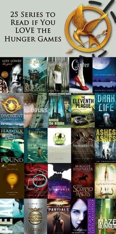 "25 Series to Read if you LOVE the Hunger Games! (I give ""The Giver"", ""Life As We Knew It"", ""Scorpio Races"" and ""The Maze Runner"" all ** I need to check these out for some new books to read ** I Love Books, Great Books, My Books, Maze Runner, Reading Lists, Book Lists, Reading Books, Reading Time, Reading Den"