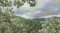 Smoky Mountain Mural - Freely splattered across the expanse.