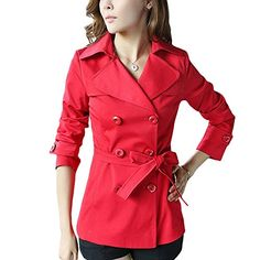 $53.99 DJT Women's Elegant Short Trench Coat with Belt #1 Red S DJT http://www.amazon.com/dp/B00NCS2IKM/ref=cm_sw_r_pi_dp_l1yrub0Q2KMNK