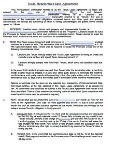 Free residential template agreement lease pdf