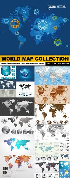 30 High-Quality Free World Map Templates Free, Graphics and Font - new world map cad free