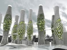 HydraScrapers in Shanghai are a Network of Air Purifiers