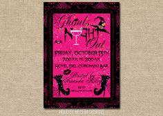 halloween girls night out invitation by HolidayHearthDesigns, $14.00