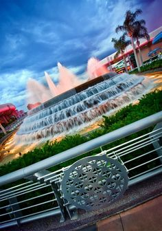 Epcot Fountain of Nations- Sit and watch the fountain for a bit- you might just see it dance for you!