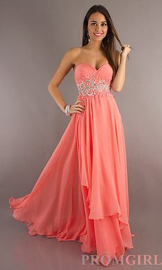 coral prom dress. ABSOLUTELY love :)  Coral Dresses #2dayslook #susan257892 #CoralDresses  www.2dayslook.com