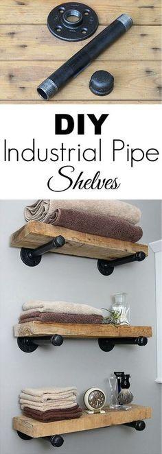 DIY Industrierohrregale