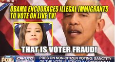 This is completely disgraceful. Obama is advocating committing VOTER FRAUD on live television as ILLEGAL IMMIGRANTS are not permitted to vote. Please watch and share! Disgraceful. Obama encourages illegals to vote on live TV. Now we know what Democrat opposition to voter ID was about. #NeverHillary pic.twitter.com/4ncFGHweSI — Deplorable Hank (@_HankRearden) November 5, 2016 Share on Facebook Share Share on Twitter Tweet Share on Pinterest Share Share on Reddit Share