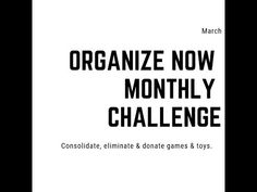 This month we are going to focus on toys and games in the Organize Now Challenge. f you have not already joined our Facebook community be sure to join today, it's free!  You can also follow along for organizing ideas on Instagram.  Please use #organizenowchallenge.  This month is not just for people with kids so listen to the video below.     Video Highlights:   – Everything you own must have a home. […]