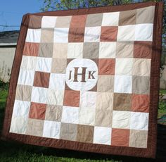 Monogram Wedding Quilt Signature Guest Book on Etsy, $275.00