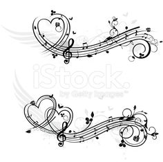 Love theme music design elements royalty-free stock vector art