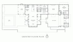 Hill-Plan-A-First-Floor Windsor Florida, Plan A, How To Plan, Golf Estate, Elevation Plan, Ground Floor Plan, Waterfront Property, Vero Beach, Great Rooms
