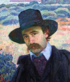 Andre Gide at Jersey Theo van Rysselberghe - 1907   Painting - oil on canvas