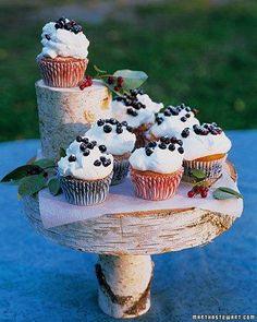 Favorite Cupcakes // Huckleberry Cupcakes with Sweet Cream Recipe