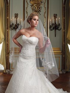 Wedding dresses and bridals gowns by David Tutera for Mon Cheri for every bride at an affordable price | Wedding Dresses|style #VEIL21111