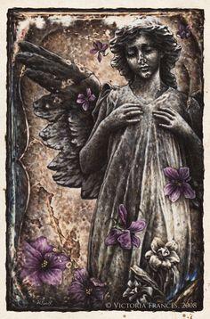 """Dark Sanctuary"" by Victoria Frances Emo Art, Goth Art, Boris Vallejo, Dark Fantasy Art, Dark Art, Fantasy Illustration, Digital Illustration, Vampires, Gouts Et Couleurs"