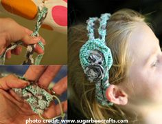 Check out this gorgeous DIY headband! And it requires NO sewing!