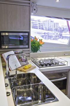 Galley on Leopard Catamaran