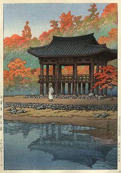 Kawase Hasui - Hakuyo Temple