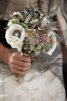 Handmade Steampunk Bouquet by Branches... a floral studio