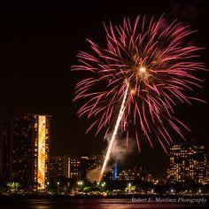 Friday night fireworks in Waikiki on the island of Oahu, Hawaii. by Robert E Martinez Photography - Photo 124731953 - 500px