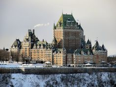 Chateau Frontenac, Quebec - I'm just dying to stay here. Quebec City is amazing and I've gotta make this stay happen.