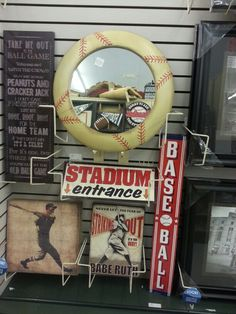 Retro Baseball Decor At Hobby Lobby